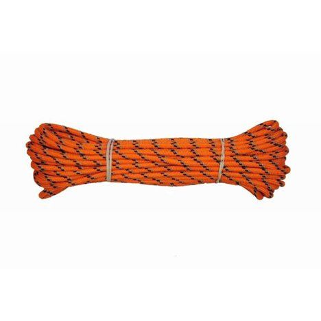 H Bruks spårlina m inflätad reflex 6mm/15m orange